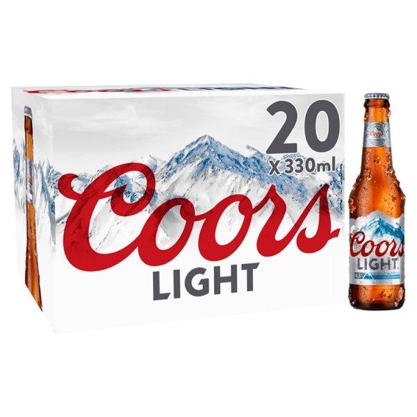 COORS LIGHT 20X330ML